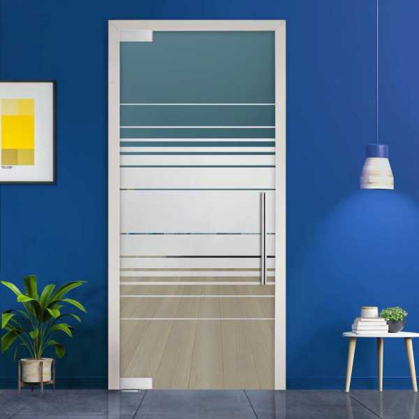 Pivot Glass Door (Model PD-0065 Semi-Private) with Handle Bar