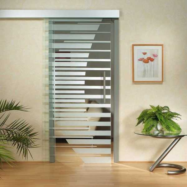 Sliding Glass Barn Door SGD-ALU100-0034 semi-private