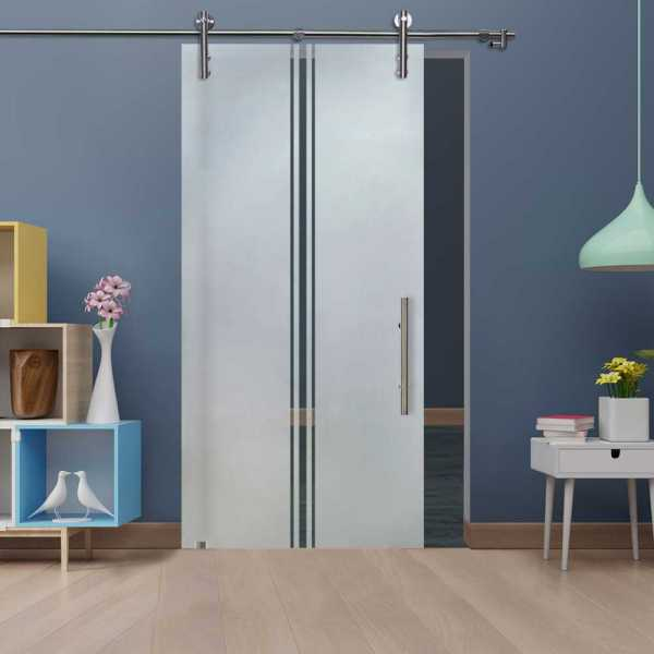 Glass Barn Door (Model SGD-V1000-0312 Semi-Private)