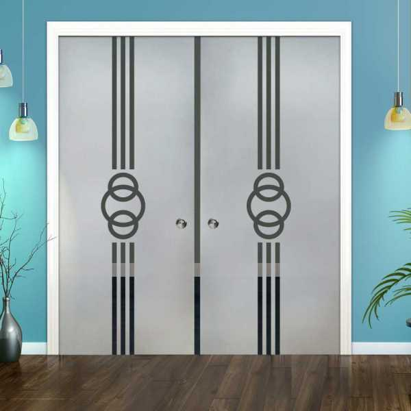 Double Pocket Glass Barn Door (Model DPSGD-0102 Semi-Private)_Recessed Grip Handle
