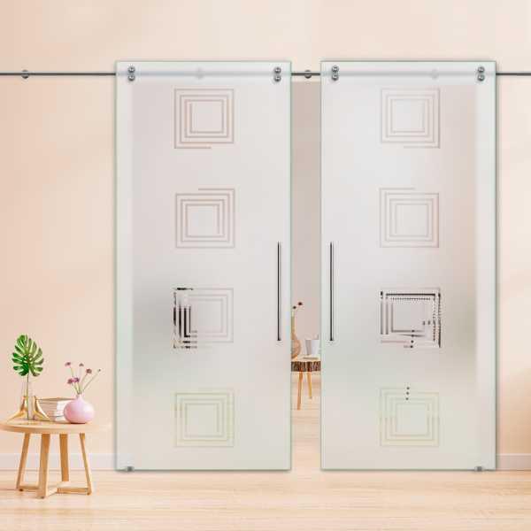 Glass Barn Door (Model DSGD-V2000-0009 Semi-Private)