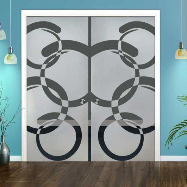 Double Pocket Glass Barn Door (Model DPSGD-0087 Semi-Private)_Recessed Grip Handle