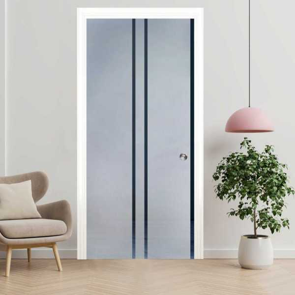 ++Sales Offers++ Pocket Sliding Glass Door with Frosted Design PSGD-0054
