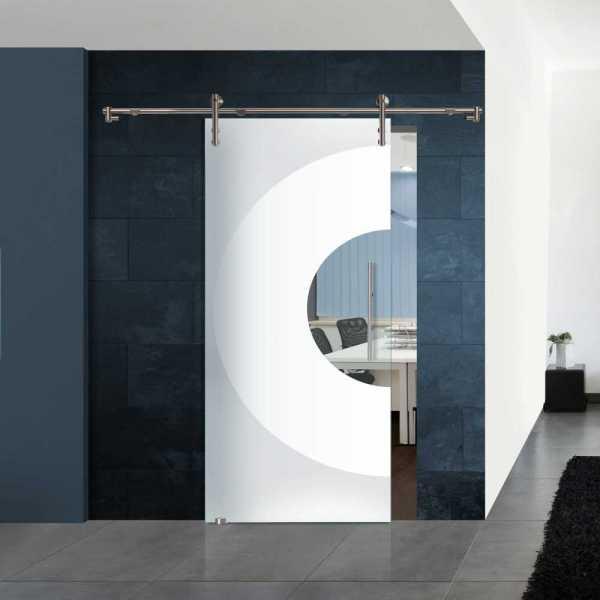 Sliding Glass Barn Door SGD-V1000-0045 semi-private