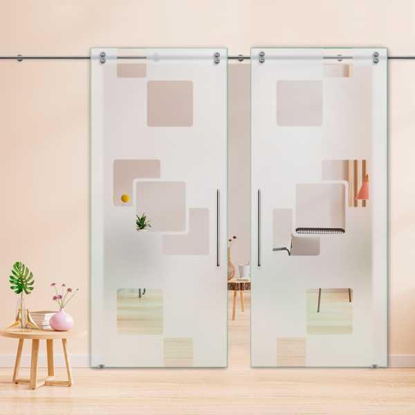 Glass Barn Door (Model DSGD-V2000-0052 Semi-Private)