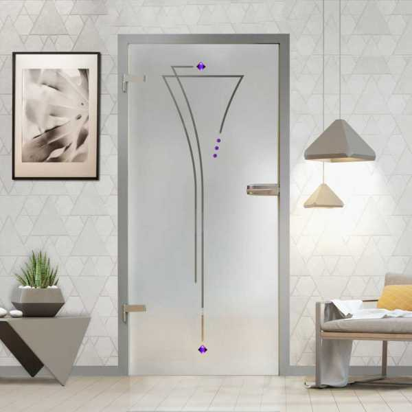 Hinged Glass Door (Model HGD-H+H-0072 Semi-Private)