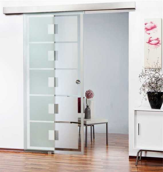 Sliding Glass Barn Door SGD-ALU100-0096 semi-private