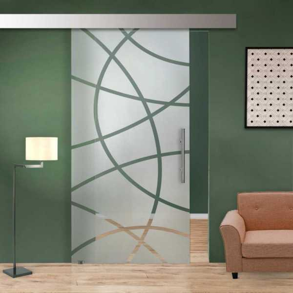 Single Sliding Glass Barn Door SGD-ALU100-0037