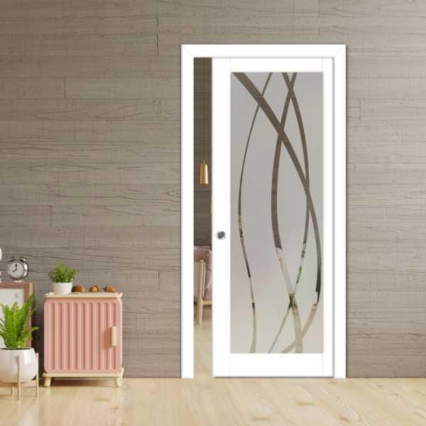 Glass Barn Door (Model PWGD-0008 Semi-Private)_Recessed Grip Handle