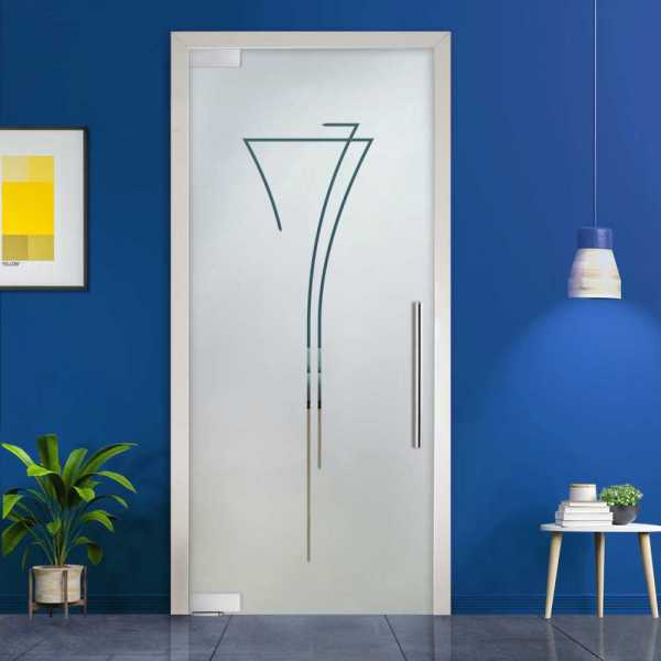 Pivot Glass Door (Model PD-0032 Semi-Private) with Handle Bar