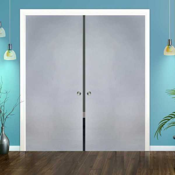 Double Pocket Sliding Glass Door with Frosted Glass DPSGD-0123