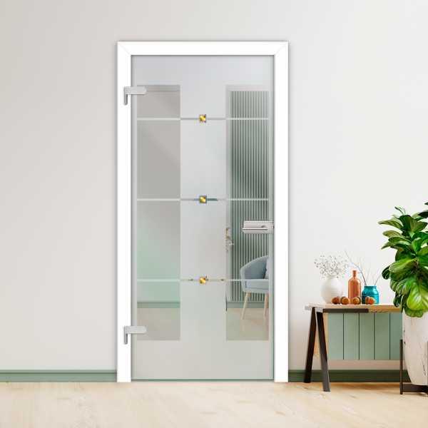 Hinged Glass Door (Model HGD-H+H-0002 Semi-Private