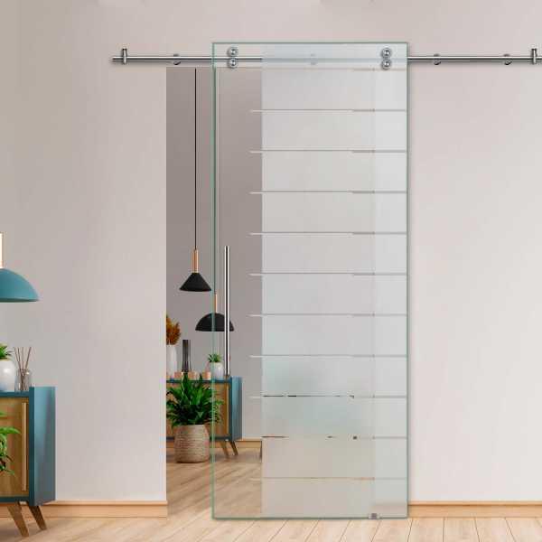 Single Sliding Barn Glass Door SGD-V2000-0246