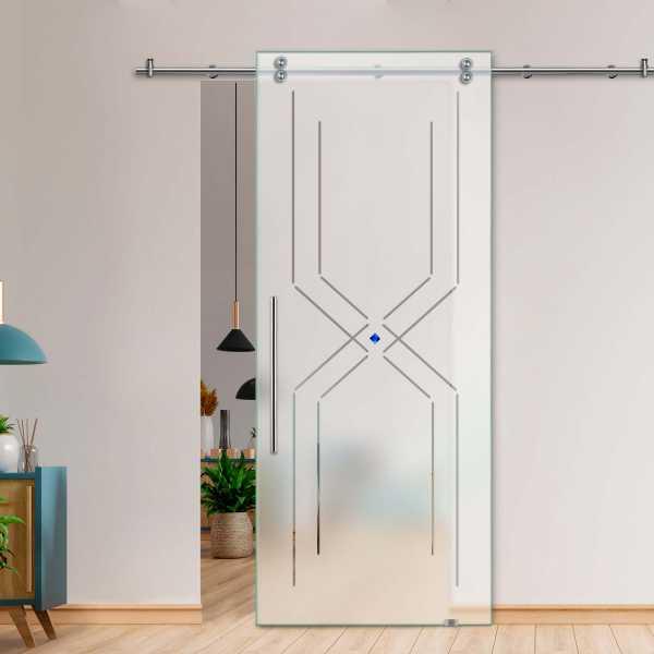 Glass Barn Door (Model SGD-V2000-0205 Semi-Private)