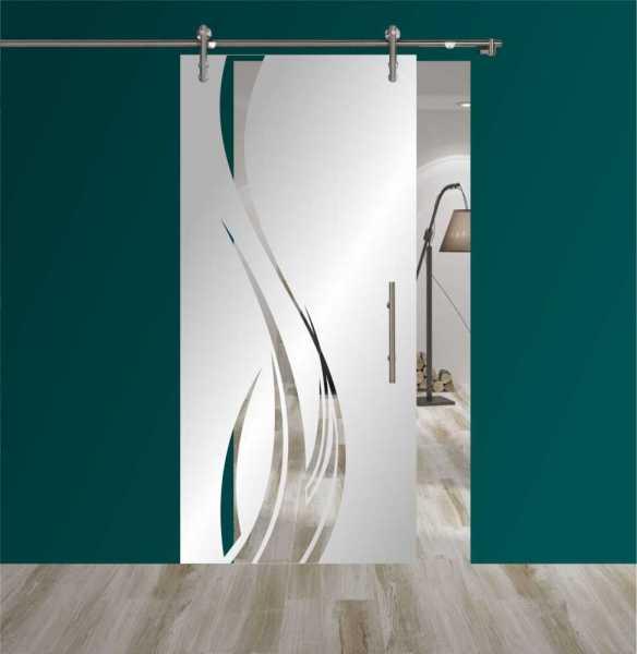 Sliding Glass Barn Door SGD-V1000-0151 semi-private