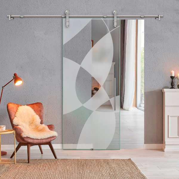 Sliding Glass Barn Door SGD-V1000-0110
