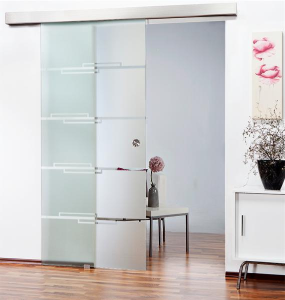 Glass Barn Door (Model SGD-ALU100-0117 Semi-Private)