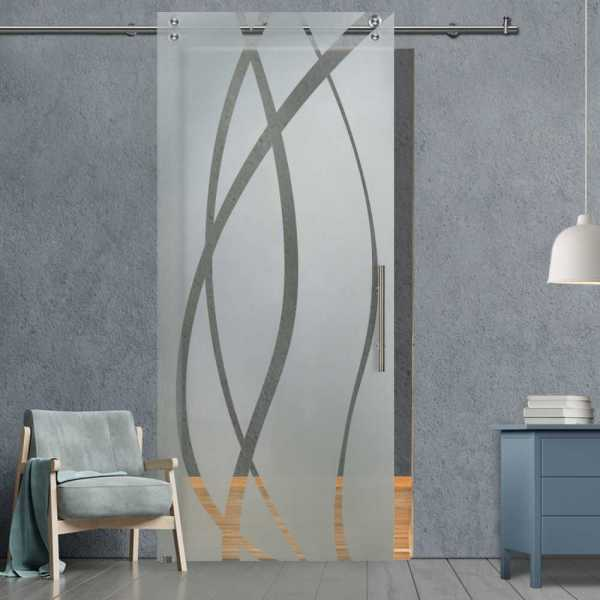 Glass Barn Door (Model SGD-V2000-0230 Semi-Private)