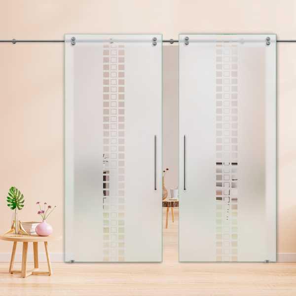Glass Barn Door (Model DSGD-V2000-0042 Semi-Private)