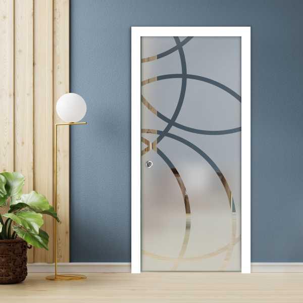 Pocket Glass Barn Door (Model PSGD-0086 Semi-Private)