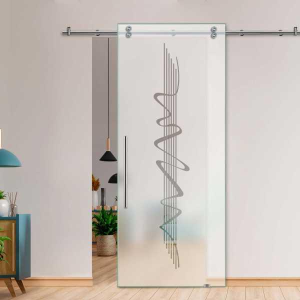 Single Sliding Barn Glass Door SGD-V2000-0070