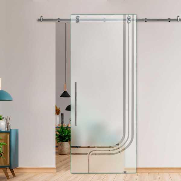 Glass Barn Door (Model SGD-V2000-0410 Semi-Private)