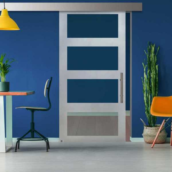 ++Sales Offers++ Sliding Glass Barn Door SGD-ALU100-0114