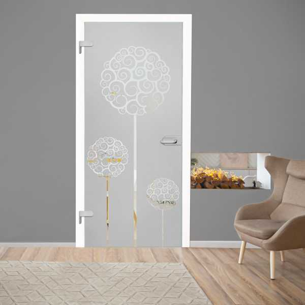 Hinged Glass Door (Model HGD-H+H-0068 Semi-Private)