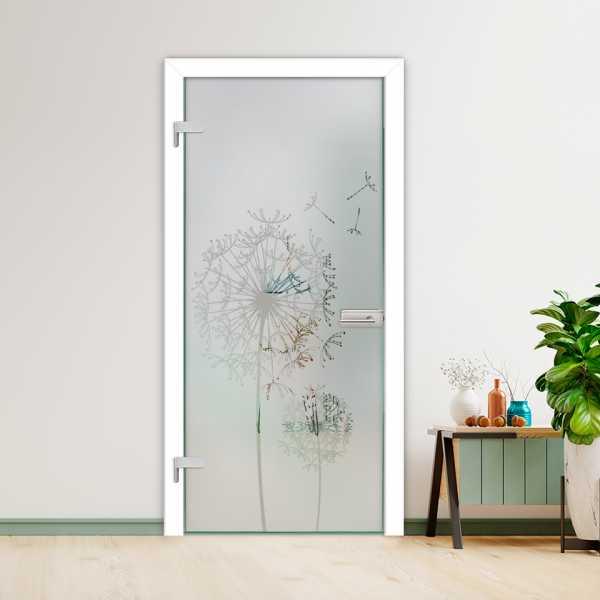 Hinged Glass Door (Model HGD-H+H-0068 Semi-Private)