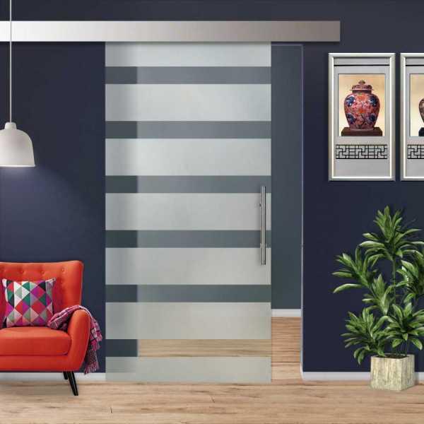 Glass Barn Door (Model SGD-ALU100-0213 Semi-Private)