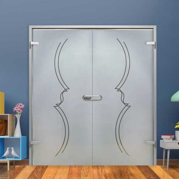 Double Hinged Glass Door H-H+DHGD-0013