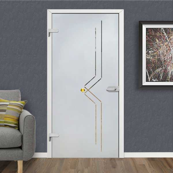 Hinged Glass Door HGD-H+H-0014 (semi-Private)