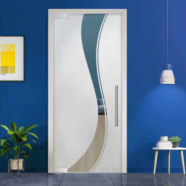 Pivot Glass Door (Model PD-0064 Semi-Private) with Handle Bar