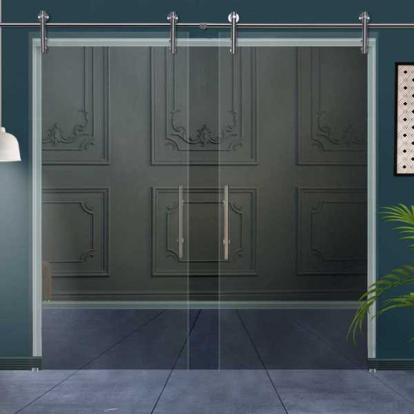 Double Glass Barn Door (Model DSGD-V1000-0005 Non-Private)