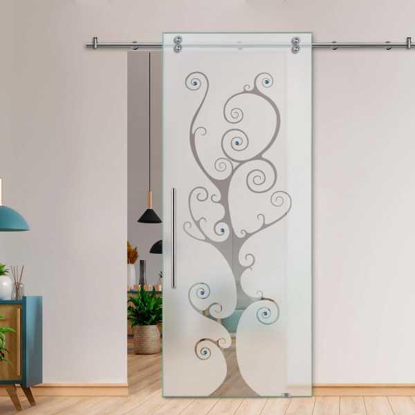 Glass Barn Door (Model SGD-V2000-0200 Semi-Private)