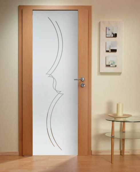 Solid Wood Hinged Door with Glass Insert HWDI-0007