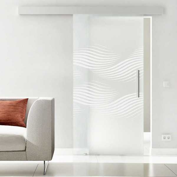 Sliding Glass Barn Door SGD-ALU100-0003 full-private