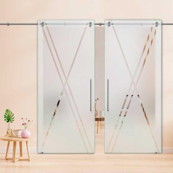Glass Barn Door (Model DSGD-V2000-0033 Semi-Private)
