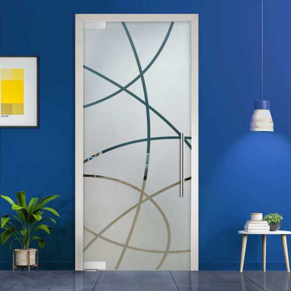 Pivot Glass Door (Model PD-0022 Semi-Private) with Handle Bar