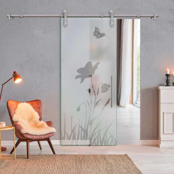 Glass Barn Door (Model SGD-V1000-0327 Semi-Private)