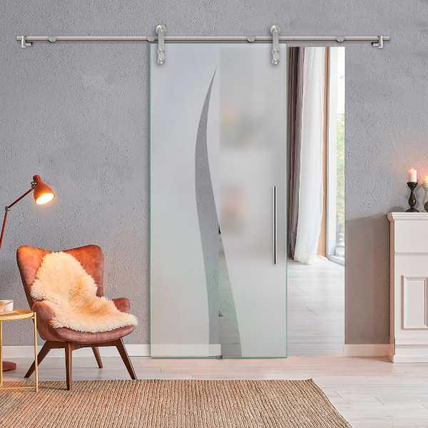 Glass Barn Door (Model SGD-V1000-0316 Semi-Private)
