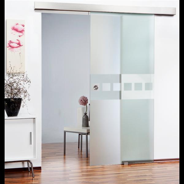 Glass Barn Door (Model SGD-ALU100-0105 Semi-Private)