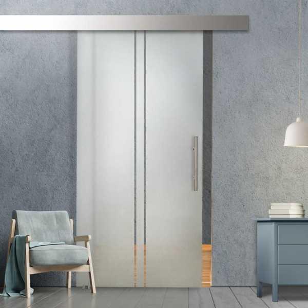Glass Barn Door (Model SGD-ALU100-0075 Semi-Private)