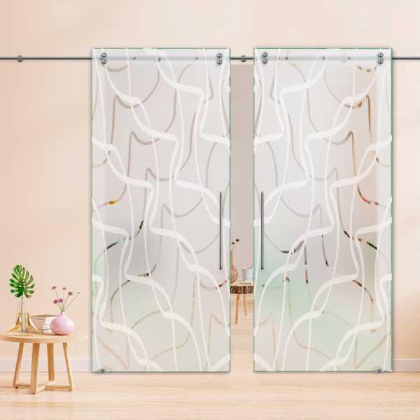 Glass Barn Door (Model DSGD-V2000-0003 Semi-Private)