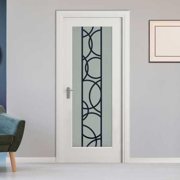 1 Lite Interior Door with Glass Insert (Model R000CA2 Semi-Private)