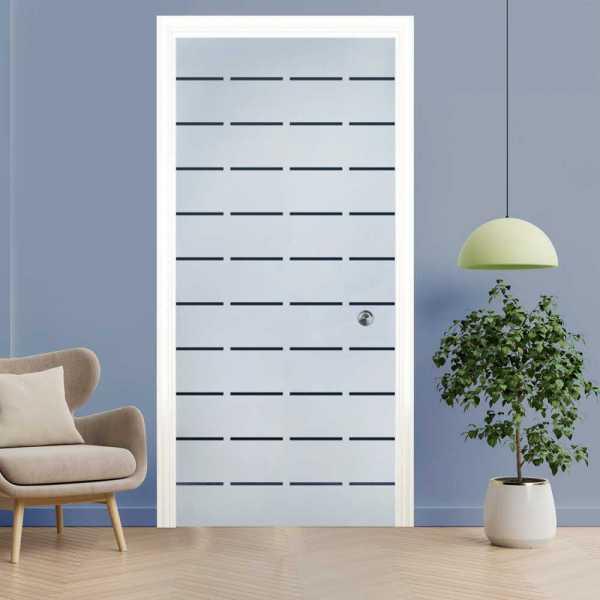 Pocket Glass Barn Door (Model PSG)D-0063 Semi-Private