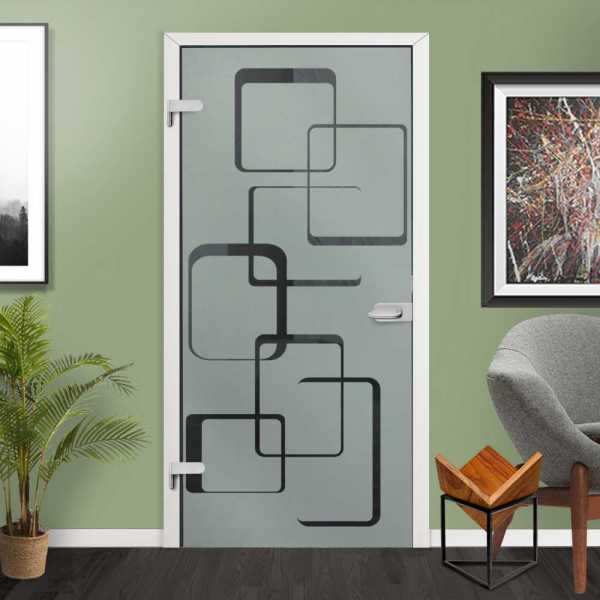 Hinged Glass Door HGD-H+H-0009 (semi-Private)