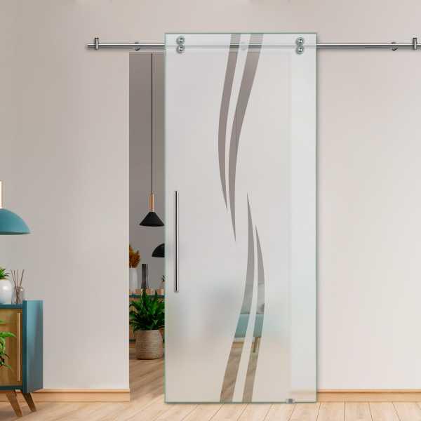 Glass Barn Door (Model SGD-V2000-0041 Semi-Private)