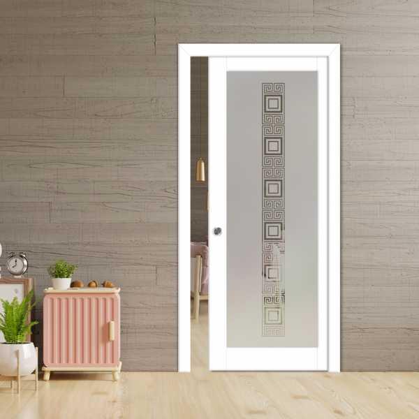 Glass Barn Door (Model PWGD-0005 Semi-Private)_Recessed Grip Handle