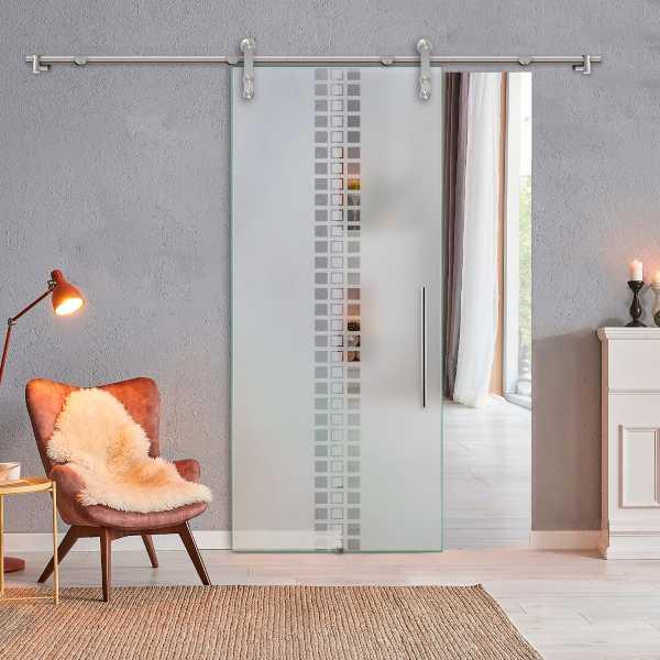 Glass Barn Door (Model SGD-V1000-0301 Semi-Private)